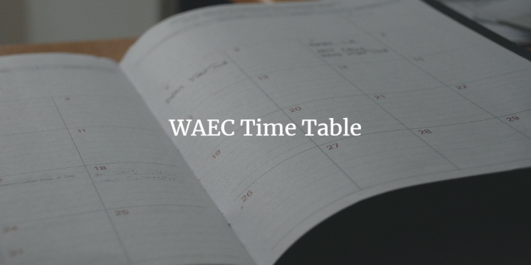 waec time table